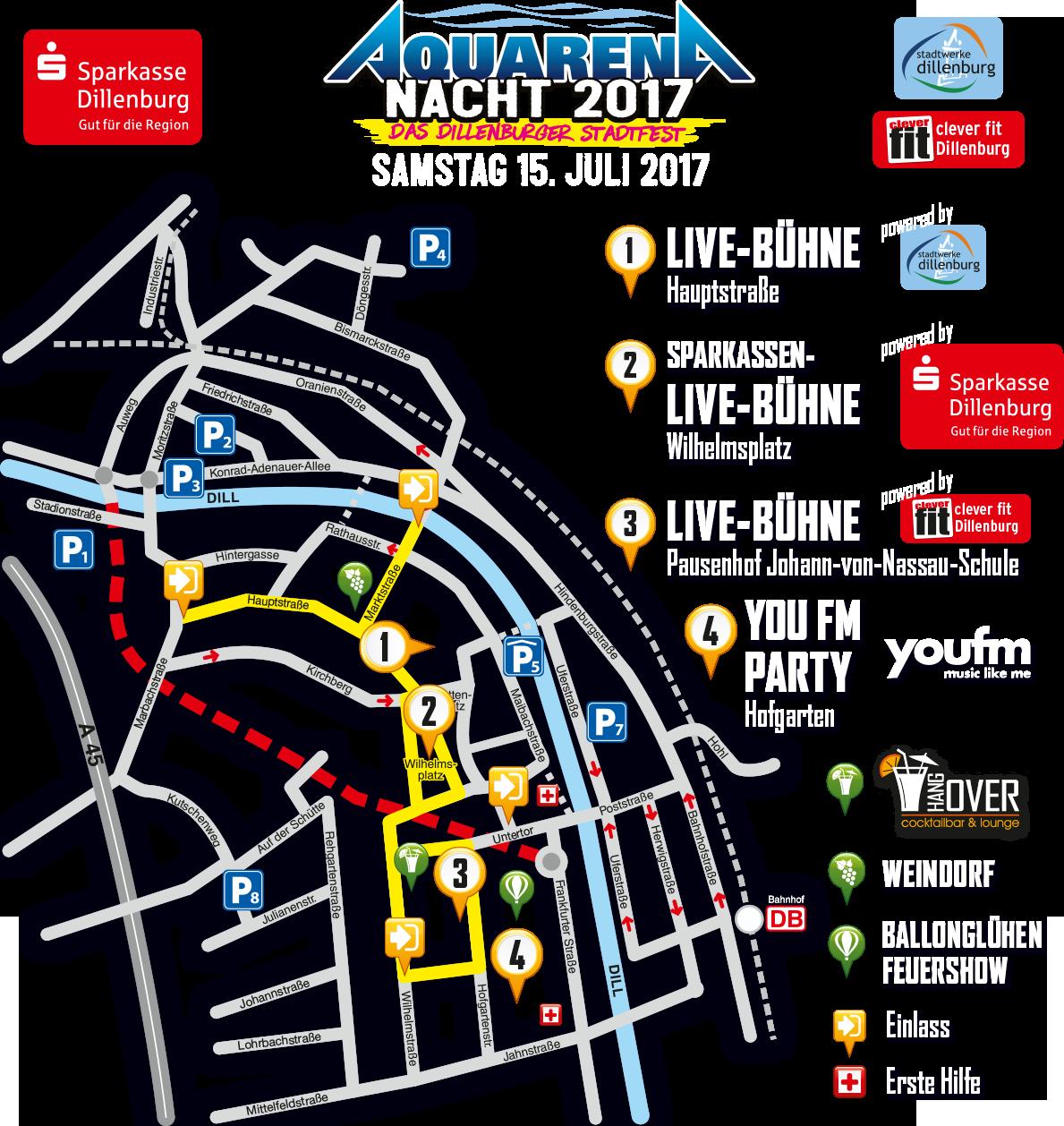 Lageplan Aquarena-Nacht 2016