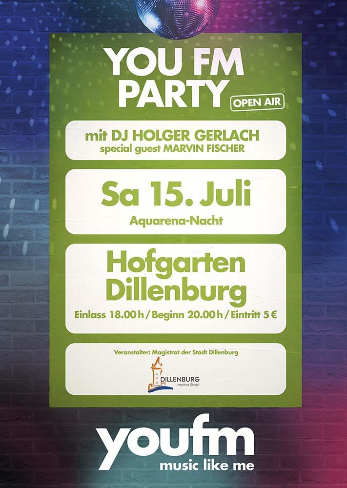 Flyer zur youfm-Party auf der AQUARENA NACHT 2017